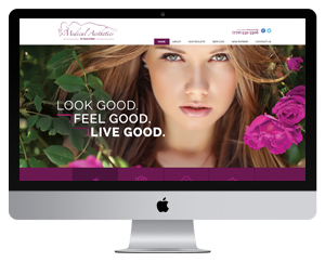 The Medical Aesthetics at Guilford website