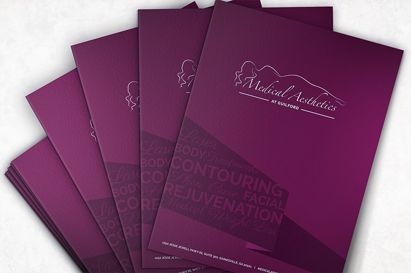 branding materials for Medical Aesthetics at Guilford
