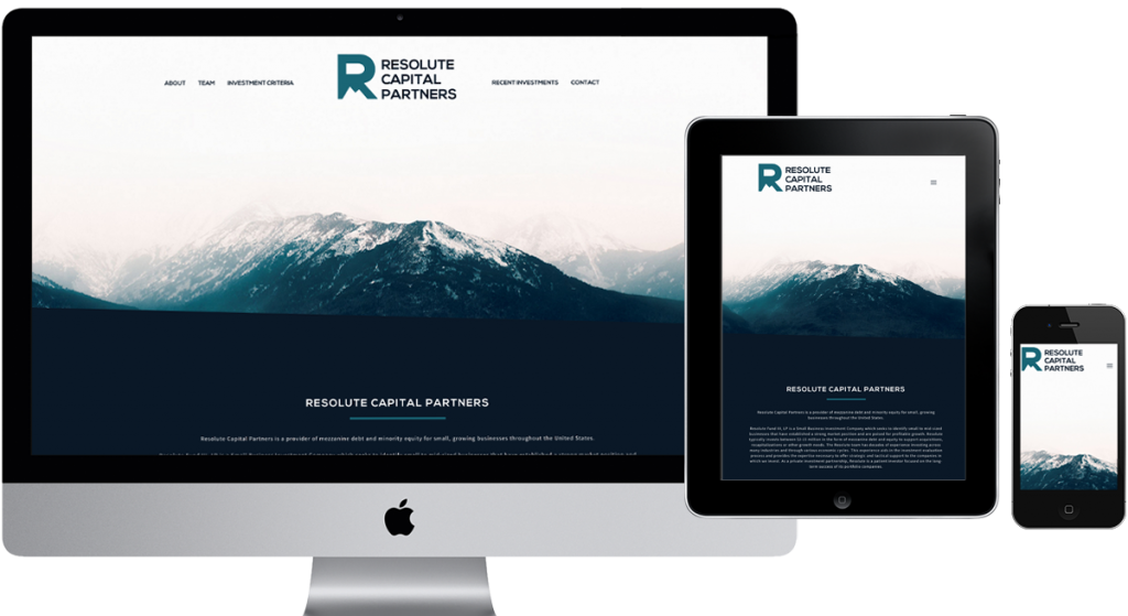 responsive versions of Resolute Capital Partners website
