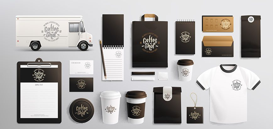 consistent branding on a variety of promotional materials