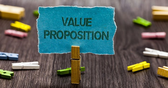 a value proposition sign