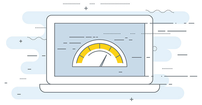 a speedometer measures the loading speed of a website
